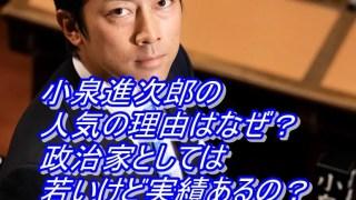 小泉進次郎の人気の理由はなぜ?政治家としては若いけど実績あるの?_アイキャッチ