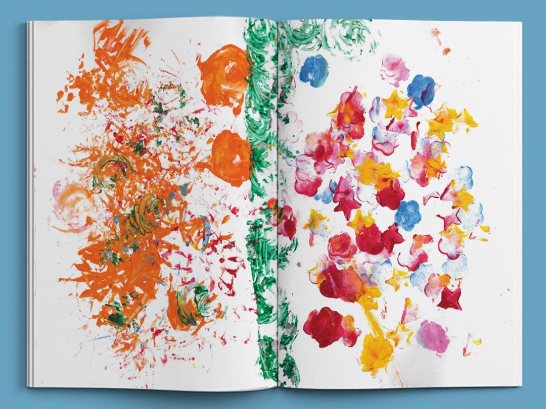村民與巨人 -蝴蝶頁 P1 黃妤涵 Dori Picture Book , handmade picture book