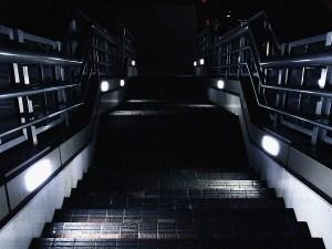 浜松町の歩道橋の階段