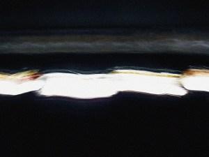 六本木ヒルズの滝のなかの閃光