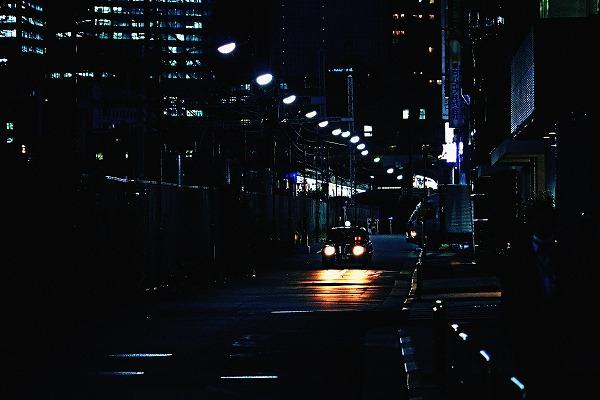 タクシーのライト