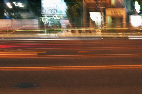 道路の閃光