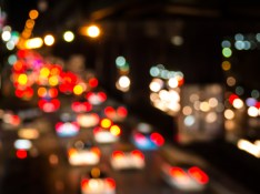 Traffic at night - Shutterstock