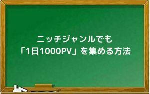ニッチジャンルでも「1日1000PV」を集める方法
