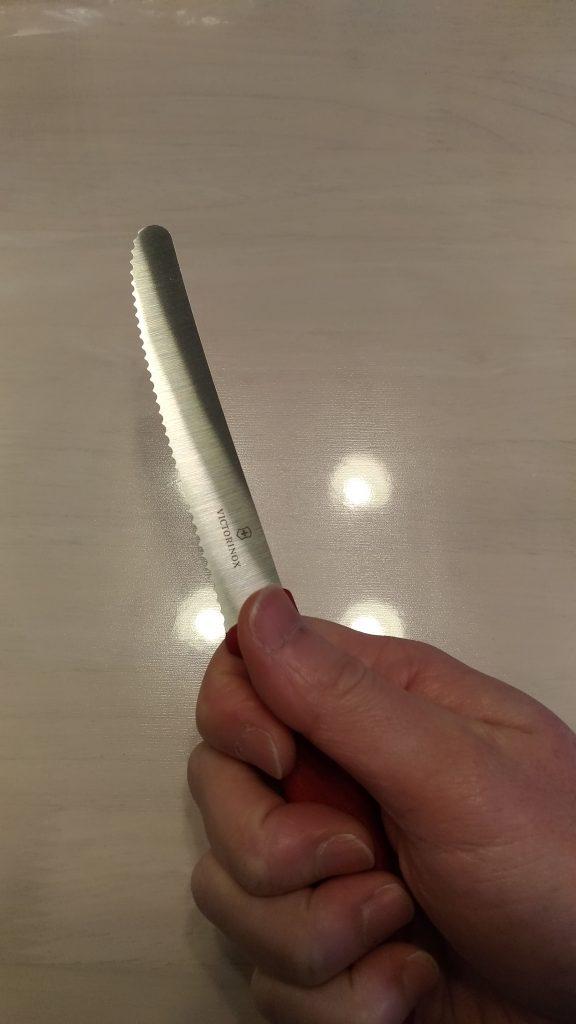 ベジタブルナイフ 握り