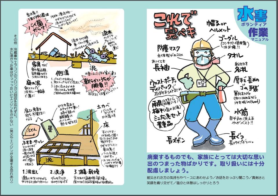 水害ボランティア作業マニュアル