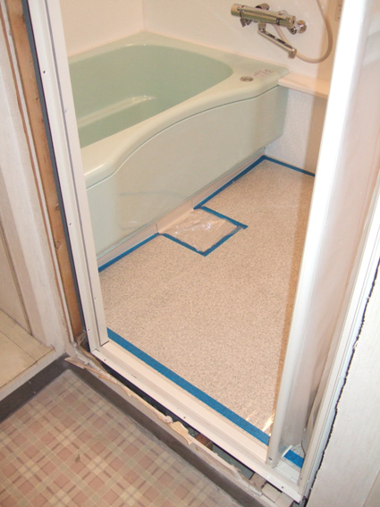 浴室完成totoマンションリモデルバスWB