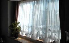 新築カーテン工事出窓スカラップ