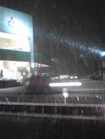 大雪の日帰り道