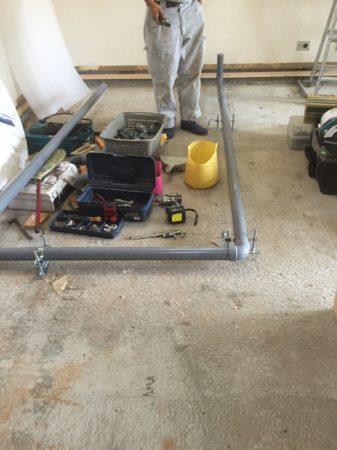 キッチン排水配管