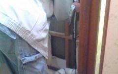 マンショントイレパック給水配管移設中