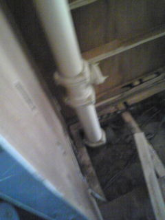 洗面台縦配管
