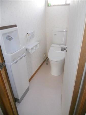 トイレも新規で中古物件購入リフォーム