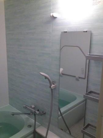 浴室改修アフター鏡あたり