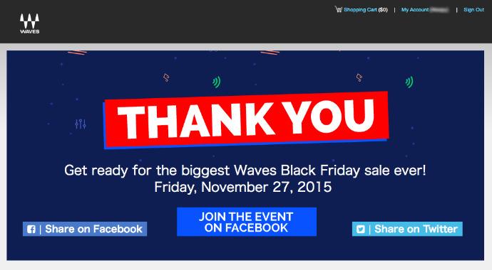 WAVES ブラックフライデー