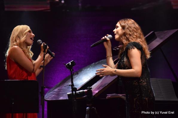 דניאלה לוגסי ומרינה מקסימיליאן בקיסריה. צילום: יובל אראל