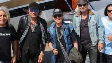 Photo of חברי להקת הסקורפיונס הגיעו לישראל