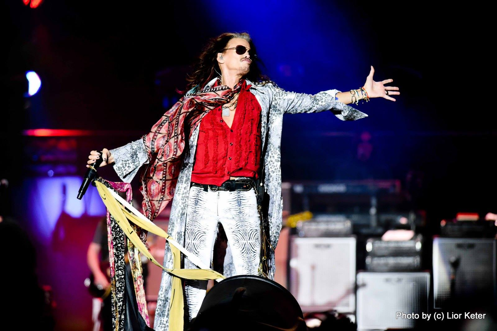 מתוך המופע של להקת אירוסמית' בפארק הירקון, רביעי, 17.05.2017. צילום: ליאור כתר
