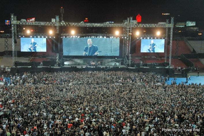 מטאליקה באצטדיון רמת גן. צילום יובל אראל