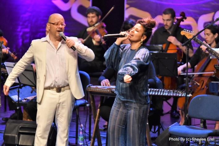 קובי אוז ודניאל סן קריאף בתיאטרון גבעתיים. צילום שילי אראל