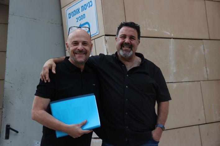רמי הראל ויואב גינאי. צילום מוטי קמחי