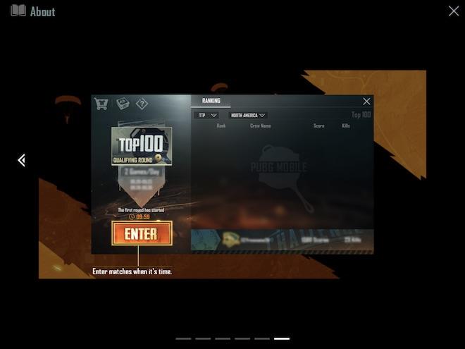 クルーチャレンジ の試合にはこの画面から入場します