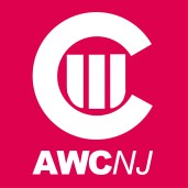 AWCNJ Logo - Initialized Version, Reverse Type