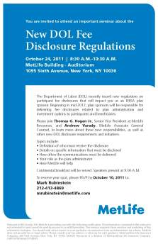 Disclosure Regulations Seminar Invitation