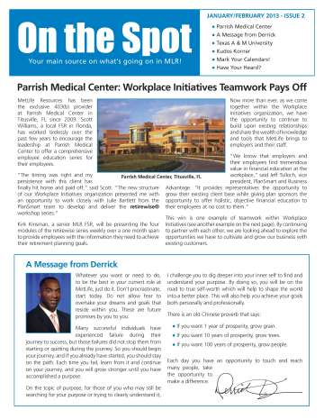 On The Spot - January/February 2013
