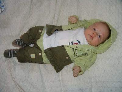 Ich mag meinen kleinen grünen Anzug