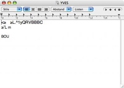 Yves schreibt jetzt Briefe - oder so ähnlich...