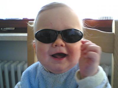 Sehe ich nicht super cool aus mit meiner neuen Sonnenbrille?