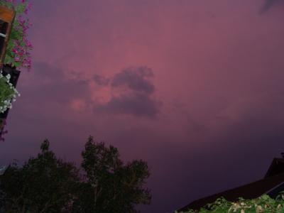Hui, der Himmel sieht ja seltsam aus...