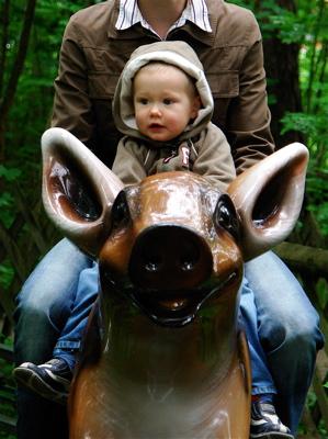 Mit Mama zusammen auf der Wildsaubahn