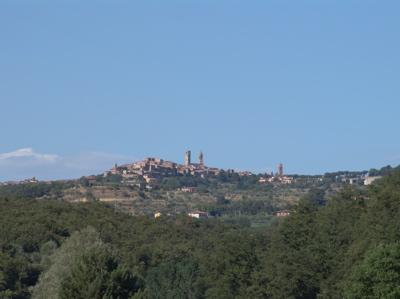 Die Aussicht auf Città della Pieve