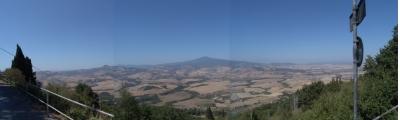 Die Aussicht aus Castiglioncello del Trinoro