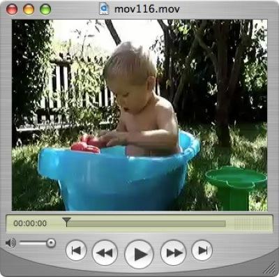 Ein Filmchen vom Badewannenplanschen