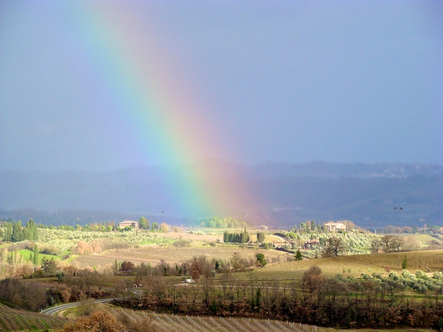 Guardate che bel arcobaleno!