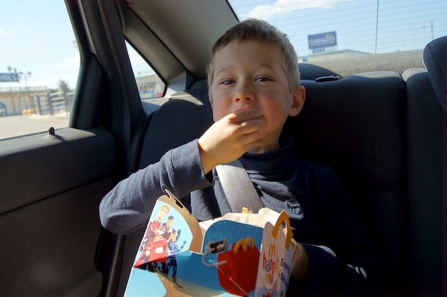 Yves mangia il burger