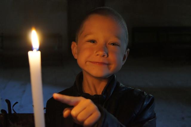 Fonzie ha acceso una candela