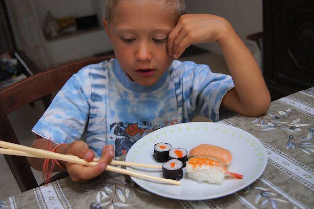 Fonzie ama il Sushi