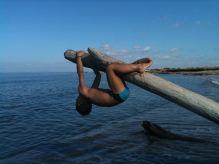 Fonzie fa le burle al mare