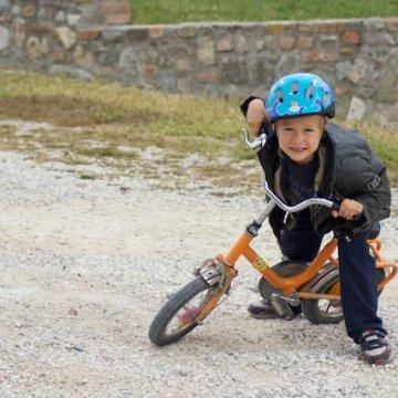 Ecco, Fonzie con la sua bici