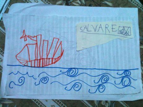 Yves ha disegnato una nave dei pirati