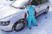 Yves piace la nostra attrezzatura per la neve