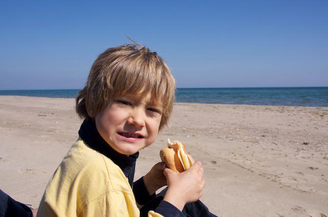 Un piccolo picnic al mare