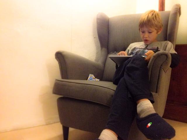 Yves si rilassa...