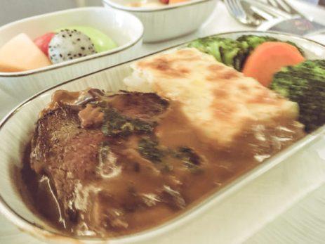 Una bistecca come piatto principale