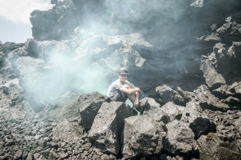 Cool atmosphere in the lava field