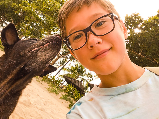 Dog-Selfie, first try